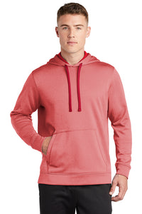 Sport-Wick Heather Fleece Hooded Sweatshirt / Heather Red / IMS Softball - Fidgety