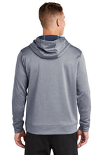 Sport-Wick Heather Fleece Hooded Sweatshirt / Heather Navy / Plaza Baseball - Fidgety