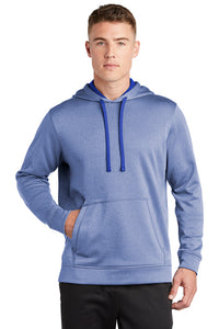 PosiCharge Sport-Wick Heather Fleece Hooded Pullover / True Royal Heather / Tidewater Drillers - Fidgety