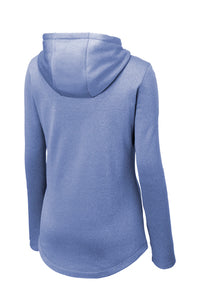 Performance Heather Fleece Hooded Pullover / True Royal Heather / Plaza Volleyball