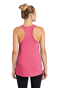 Ladies Tri-Blend Wicking Tank / Pink Raspberry Heather / Saints Crew - Fidgety