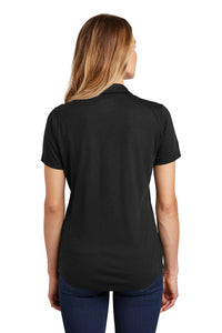 Ladies Tri-Blend Wicking Polo / Black Triblend / Mermaids - Fidgety