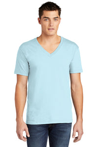 Fine Jersey V-Neck T-Shirt  / Light Blue / Coastal Cannons - Fidgety