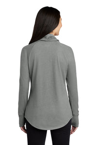 Ladies Sueded Cotton Blend Cowl Tee / Grey Heather / Saints - Fidgety