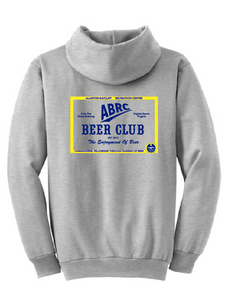 Core Fleece Pullover Hooded Sweatshirt / Heather Grey / ABRC Beer Club