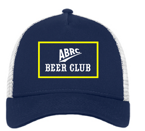 SnapBack Trucker Hat / Navy & White / ABRC Beer Club