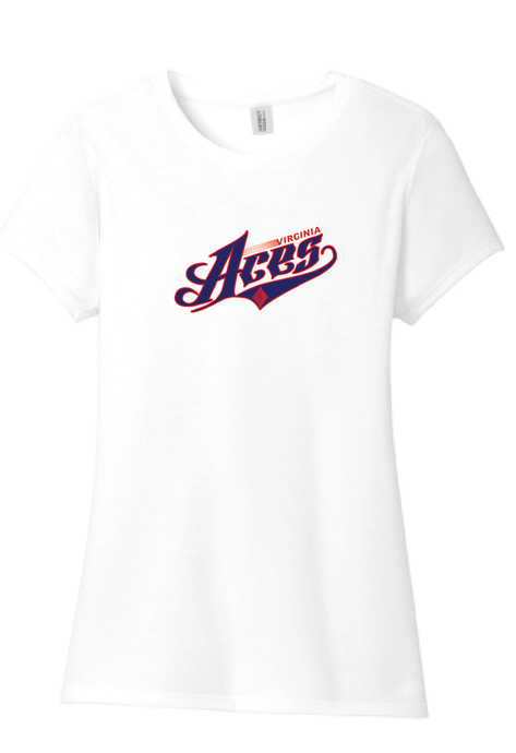 Ladies Tri-Blend T-shirt/ White / VA Aces - Fidgety