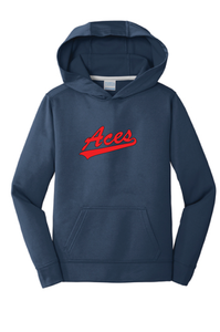 Performance Fleece Hooded Sweatshirt / Navy  / VA Aces - Fidgety