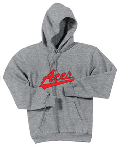 Fleece Hooded Sweatshirt / Gray  / VA Aces - Fidgety