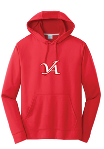Performance Fleece Hooded Sweatshirt / Red  / VA Aces - Fidgety
