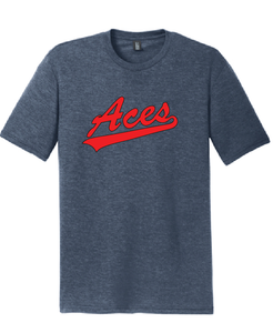 Men's Tri-Blend Crew T-Shirt/Navy Frost/VA Aces - Fidgety