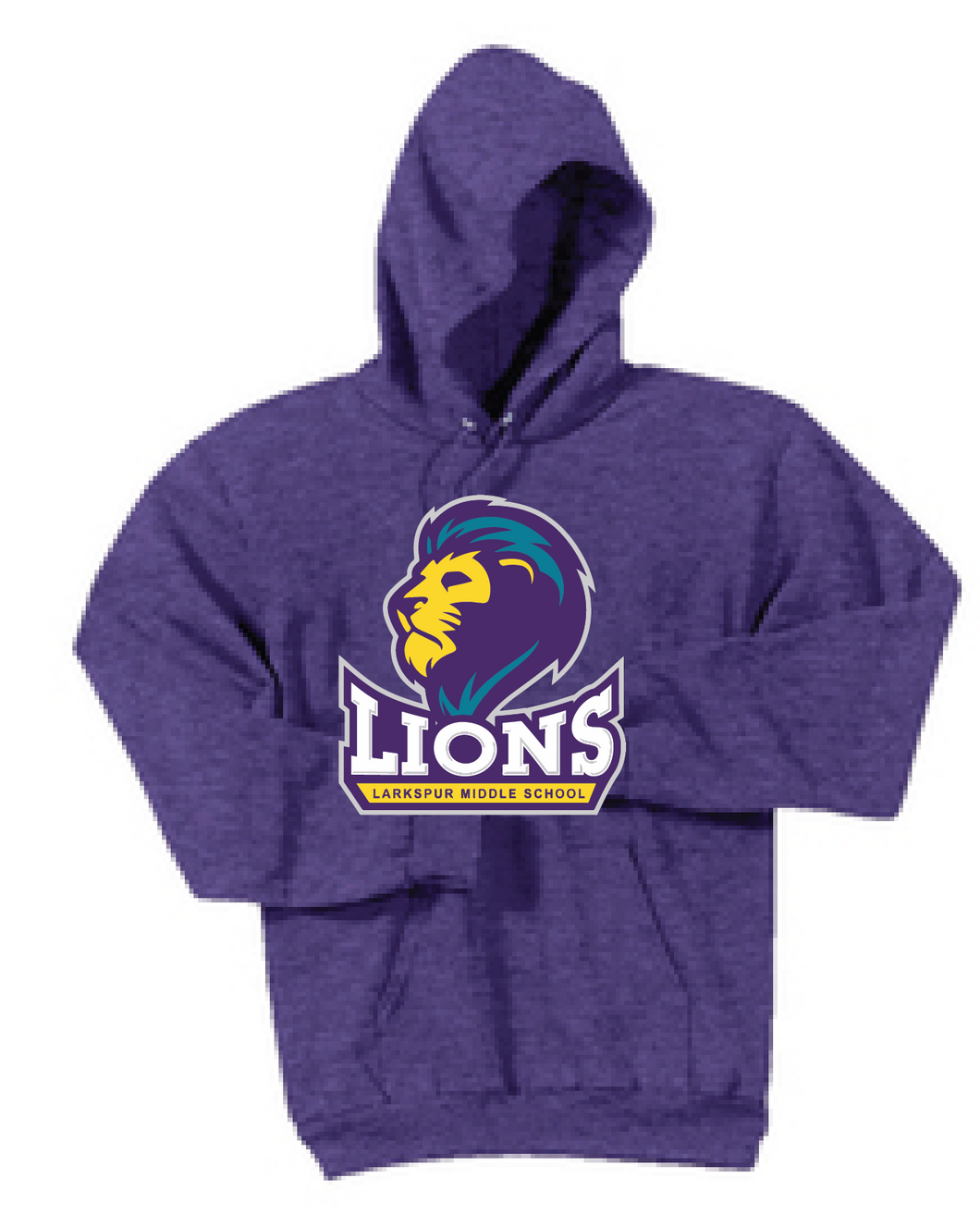 Fleece Pullover Hooded Sweatshirt / Heather Purple / Larksur AVID - Fidgety