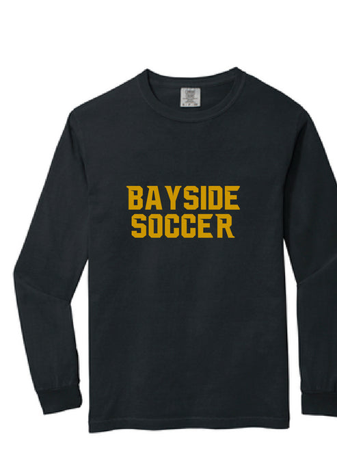 Comfort Colors Heavyweight Ring Spun Long Sleeve Tee / Black / Bayside High School Soccer
