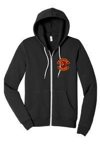 Unisex Sponge Fleece Full-Zip Hoodie / Black / Bayside High School Soccer