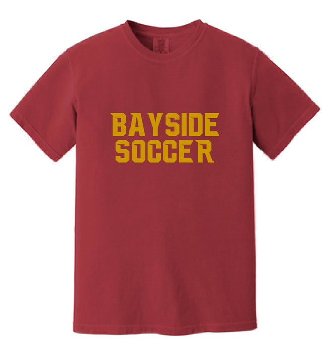 Comfort Colors Heavyweight Ring Spun Tee / Crimson Red / Bayside High School Soccer