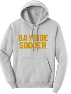 Fleece Hooded Sweatshirt / Ash / Bayside High School Soccer