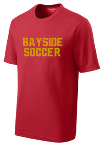 Performance RacerMesh Short Sleeve Tee / Red / Bayside High School Soccer