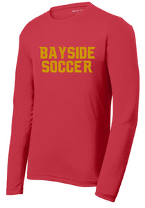 Performance RacerMesh Long Sleeve Tee / Red / Bayside High School Soccer