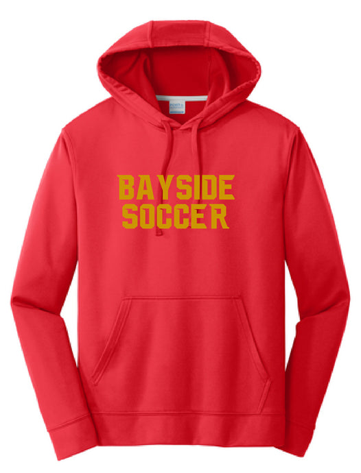 Performance Fleece Hooded Sweatshirt / Red / Bayside High School Soccer