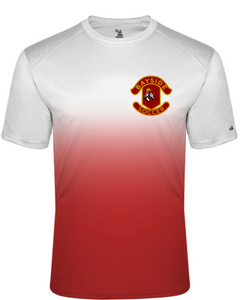 Unisex Crew Neck Ombre T-Shirt / White & Red / Bayside High School Boys Soccer