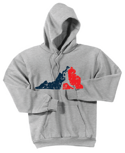 VA Baseball Hooded Sweatshirt / Light Gray / Fidgety