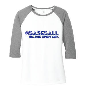 Baseball All Day Triblend Raglan / Gray & White / Fidgety - Fidgety