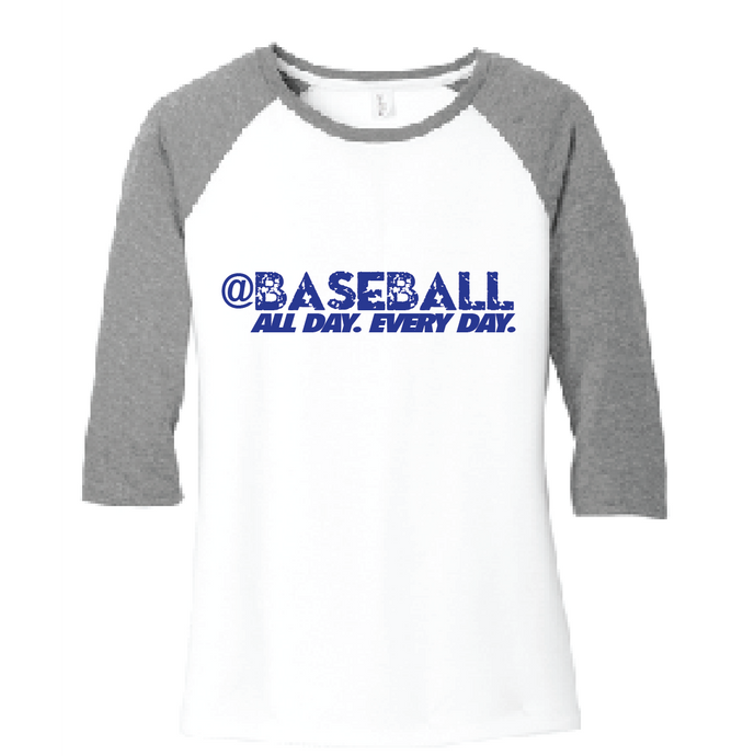Baseball All Day Triblend Raglan / Gray & White / Fidgety