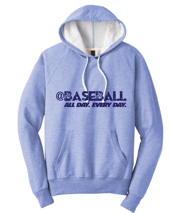 Baseball All Day Triblend French Terry Hoodie / Maritime Frost / Fidgety