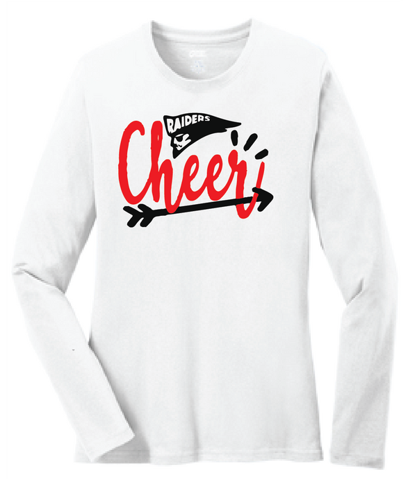 Raiders Cheer Long Sleeve Shirt / White / Bayside Cheer - Fidgety