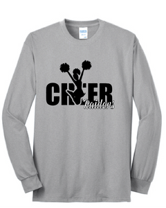 Cheer Raiders Long Sleeve Shirt / Gray / Bayside Cheer - Fidgety