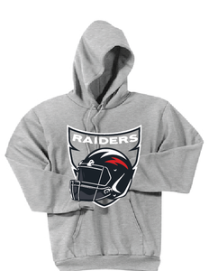 Raiders Football Fleece Hoody / Gray /Bayside Football - Fidgety