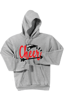 CHEER Fleece Hoody / Ash Gray / Bayside Cheer - Fidgety