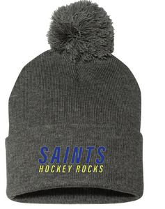 Pom Beanie / Charcoal / Saints Field Hockey-[product_collection]