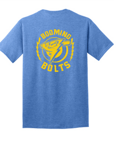 Youth Tri-Blend T-Shirt / Heather Royal / Booming Bolts - Fidgety