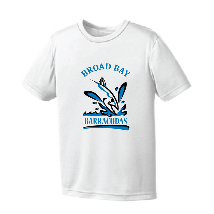 Performance Tee (Youth & Adult) / White / Broad Bay Swim - Fidgety