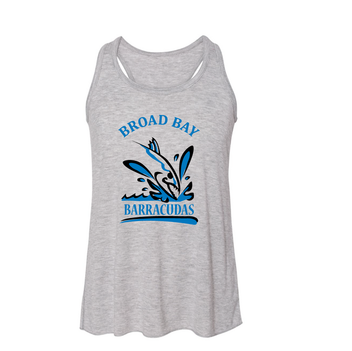 Women's Flowy Racerback Tank / Heather Grey / Broad Bay Swim - Fidgety