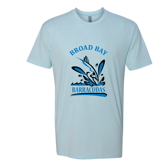 Short Sleeve TriBlend T-Shirt (Youth & Adult) / Ice Blue / Broad Bay Swim - Fidgety