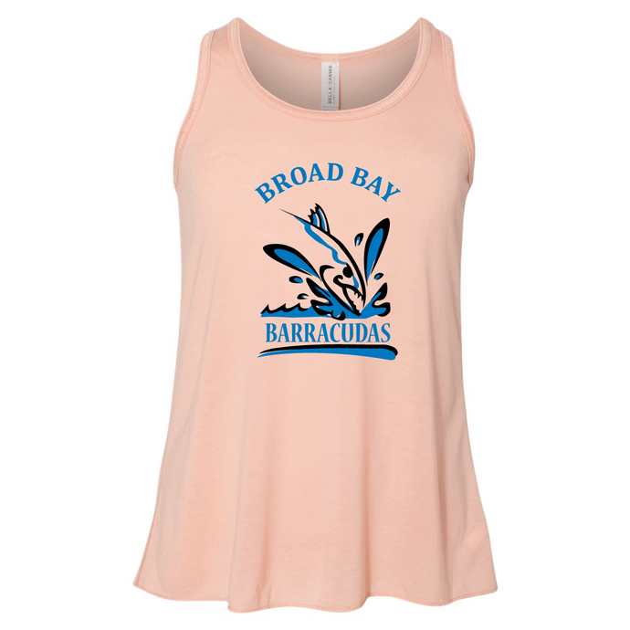 Youth Flowy Racerback Tank / Peach / Broad Bay Swim - Fidgety