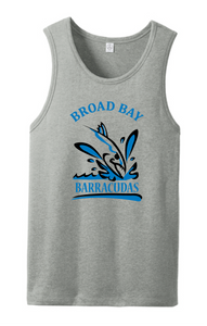Men's Blended Jersey Tank Tank / Heather Gray / Broad Bay Swim - Fidgety