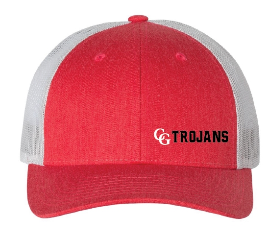 Low Profile Trucker Hat / Red & Silver / Center Grove Soccer