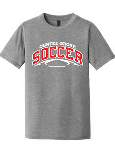 Crew Neck Soft Style T-Shirt / Heather Grey / Center Grove Soccer