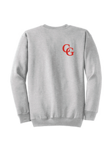 CG Crew Neck Fleece Sweatshirt / Ash Grey / Center Grove Soccer