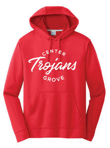 Performance Hooded Sweatshirt / Red / Center Grove Soccer