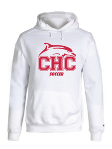 Badger Hooded Sweatshirt / White / Cape Henry Soccer - Fidgety