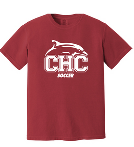 Comfort Colors® Heavyweight Ring Spun Tee  / Crimson / Cape Henry Soccer - Fidgety