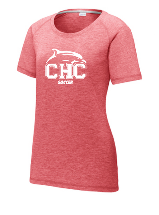Tri-Blend Scoop Neck T-shirt / True Red Heather / Cape Henry Soccer - Fidgety