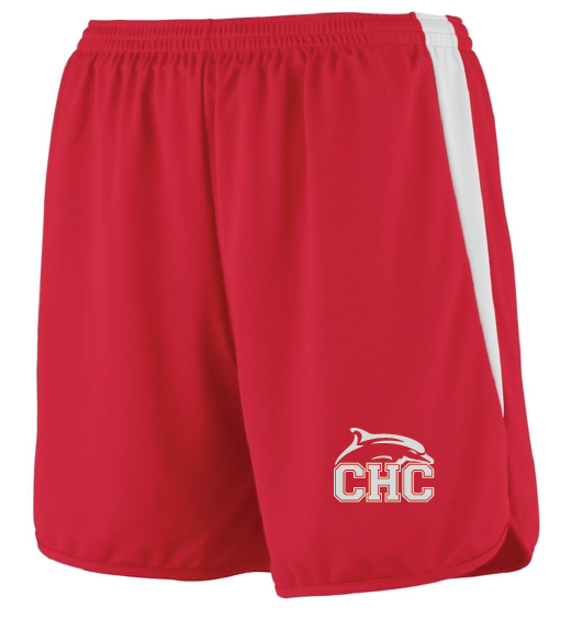 Velocity Track Shorts / Red & White / Cape Henry Track & Field
