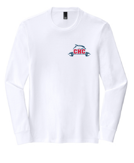 Triblend Long Sleeve Tee / White / Cape Henry Strength & Conditioning
