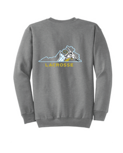Essential Fleece Crewneck Sweatshirt / Athletic Heather / FC Lacrosse - Fidgety
