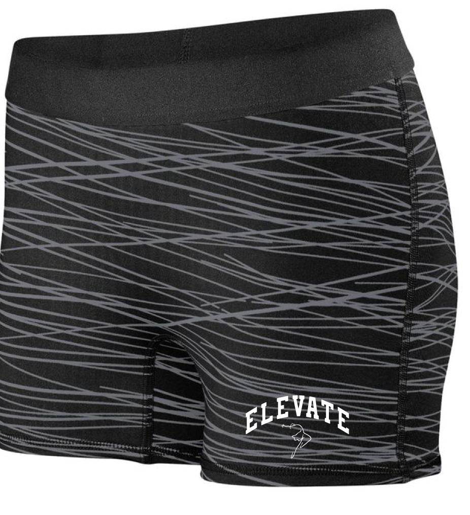 Ladies Hyperform Fitted Shorts / Black & Graphite / Elevate